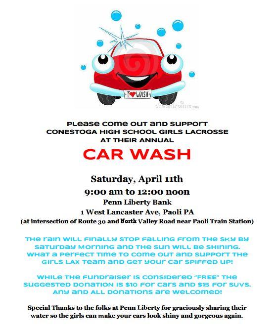 Car Wash 4/11 9am-12pm