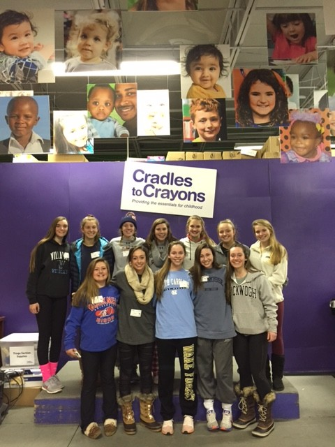 Stoga Girls Give Time at Cradles to Crayons
