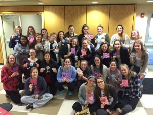 Making Valentines for Main Line Meals on Wheels (Feb 10, 2016)