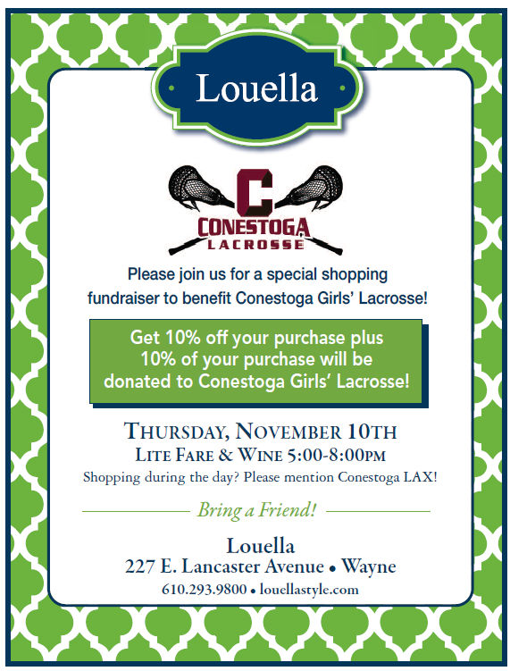 Save the Date – November 10, 2016 – Louella Shopping Fundraiser!
