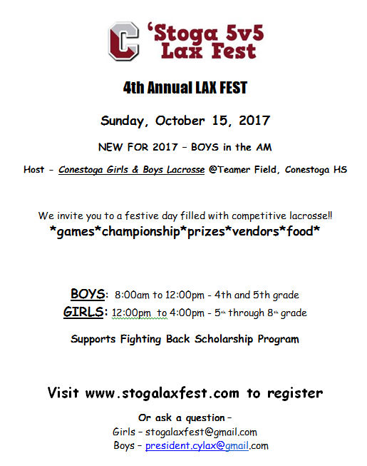 4th Annual Stoga Lax Fest 5v5